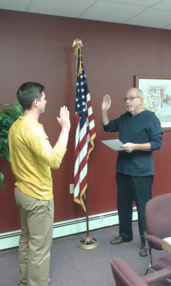 Mr. Tubbs takes the oath of office!
